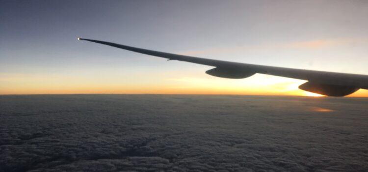 Der erste Flug auf die Philippinen